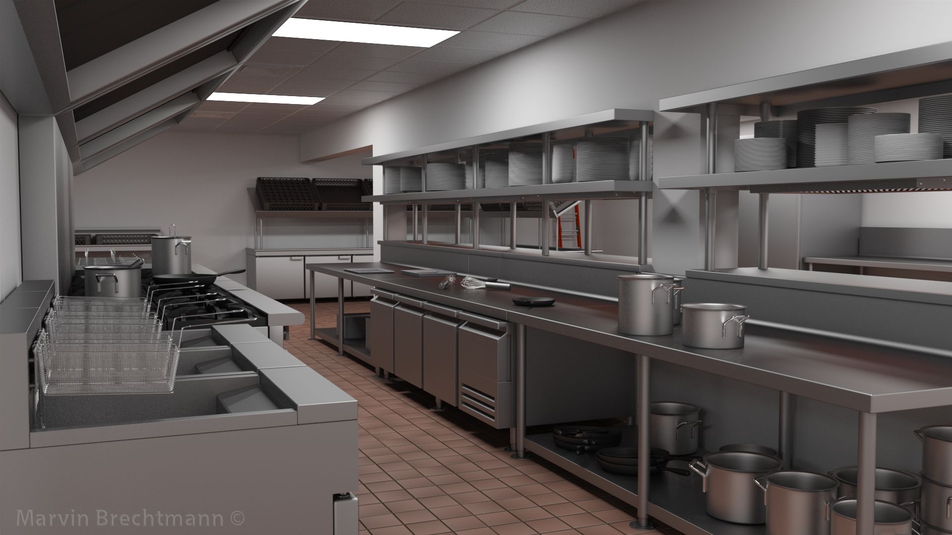 Marvin brechtmann 3d artist for V kitchen restaurant